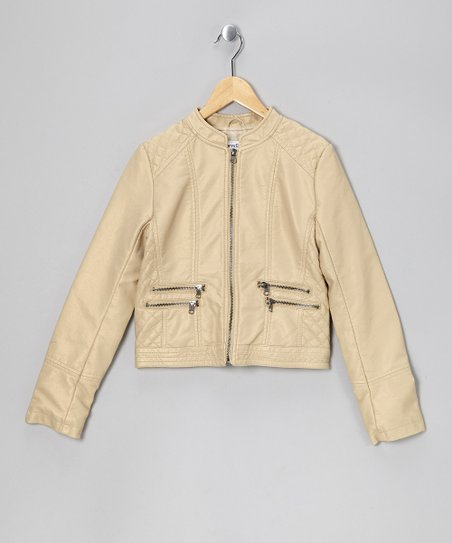 Gold Pearl Double Zipper Jacket