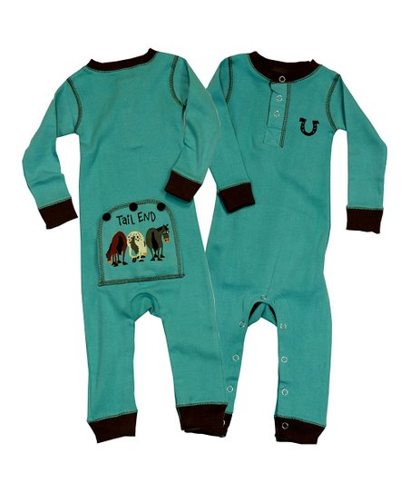 Blue Tail End Flapjack Playsuit - Infant