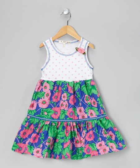 Blue Floral Dress - Toddler & Girls