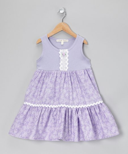 Lavender Floral Dress - Infant, Toddler & Girls
