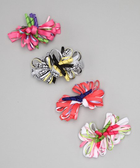 Spring Loopy Bow Clip Set