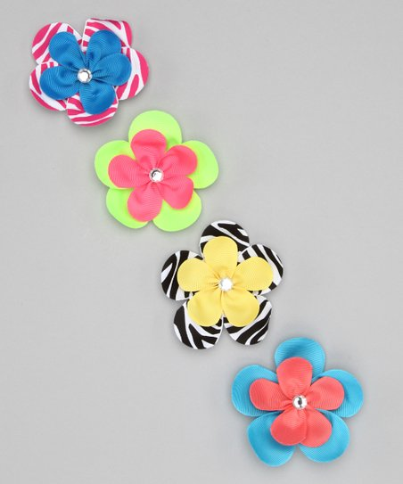 Blue Easter Flower Clip Set