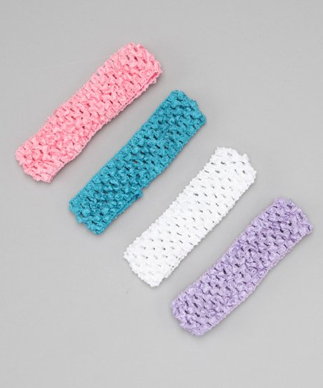 Pastel Crochet Headband Set