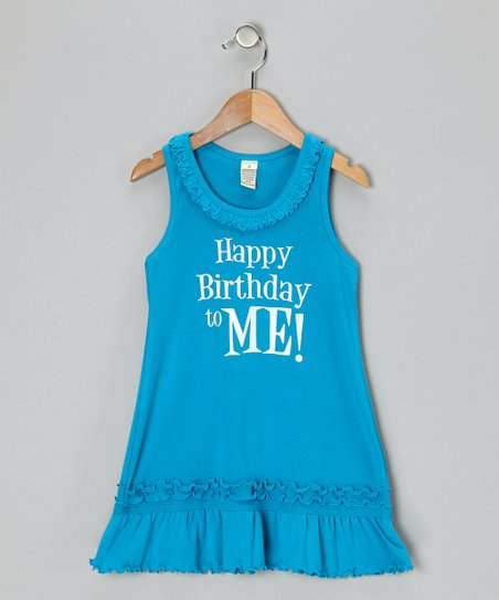 Island Blue 'Happy Birthday' Dress - Infant, Toddler & Girls