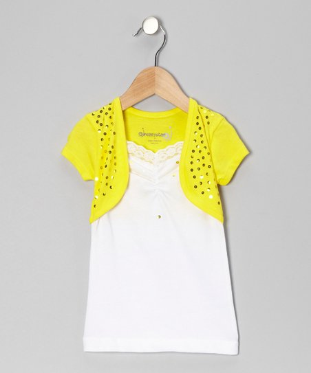 Lemon Sequin Layered Top - Toddler