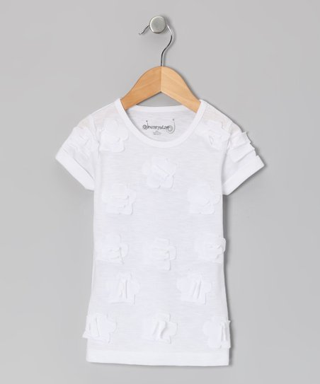 White Daisy Tee - Girls