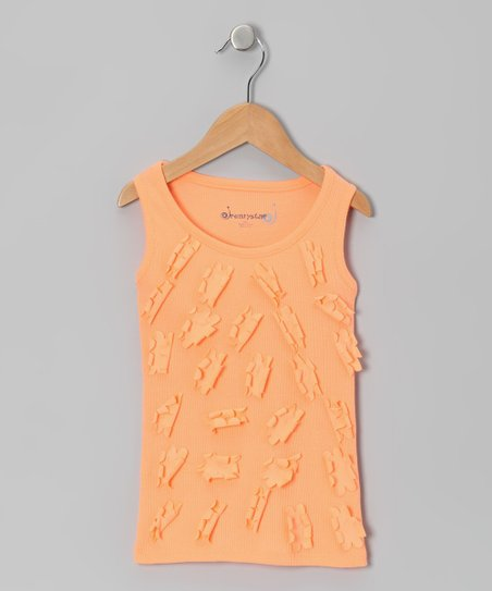 Orange Daisy Tank - Toddler & Girls
