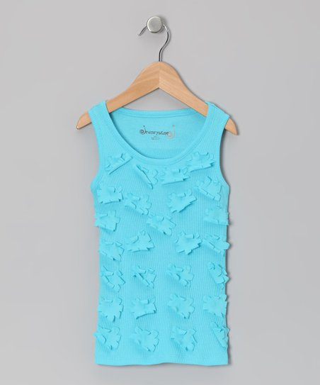 Turquoise Daisy Tank - Toddler & Girls