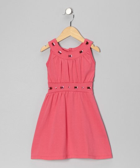 Hot Pink Jewel Dress - Toddler