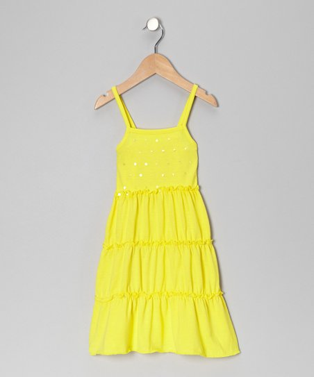 Lemon Sequin Sundress - Toddler