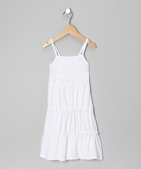 White Sequin Sundress - Toddler