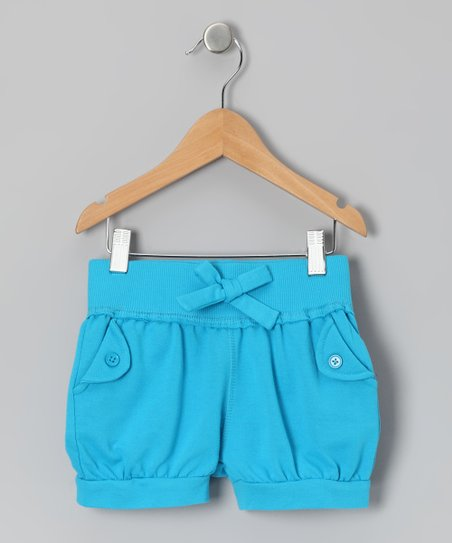 Hawaii Blue Bow Shorts - Toddler & Girls