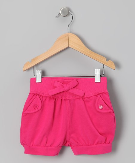 Fuchsia Bow Shorts - Toddler & Girls