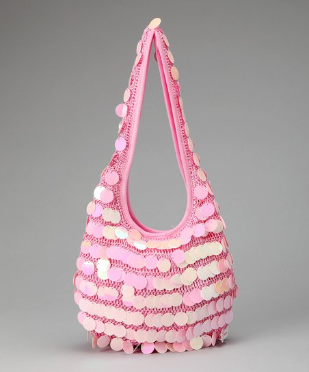 Pink Sequin Hobo