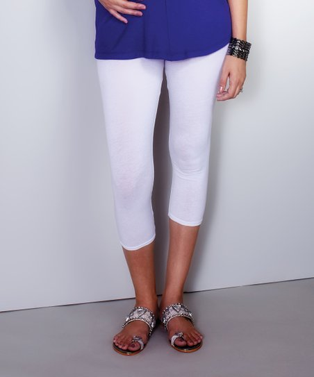 White Maternity Capri Leggings