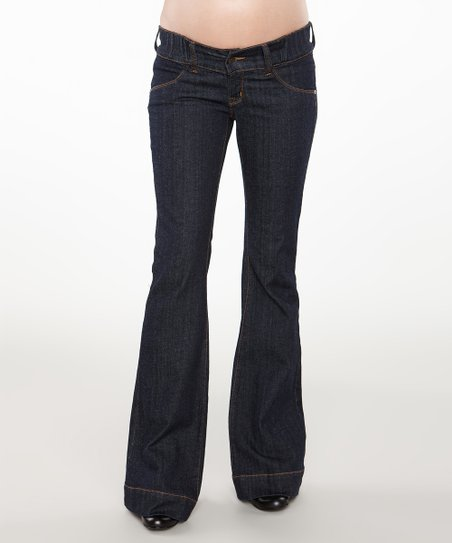 Dark Wash Under-Belly Maternity Bootcut Jeans