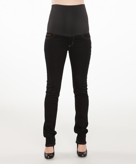 Black Under-Belly Maternity Skinny Jeans