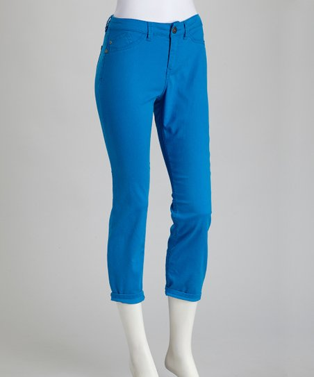 Super Blue Billie Stretch Cropped Jeans