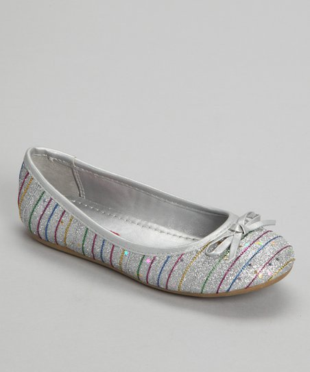 Silver Glitter Ballet Flat