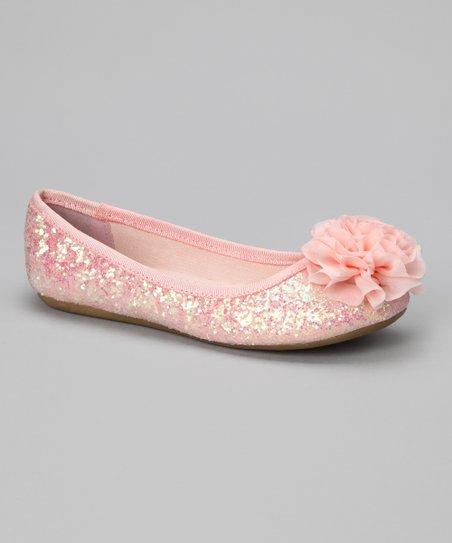 Pink Glitter Sprinkle Ballet Flat
