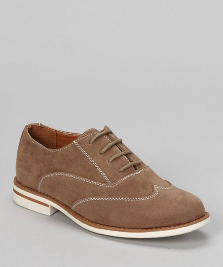 Tan Faux Suede Saddle Shoe