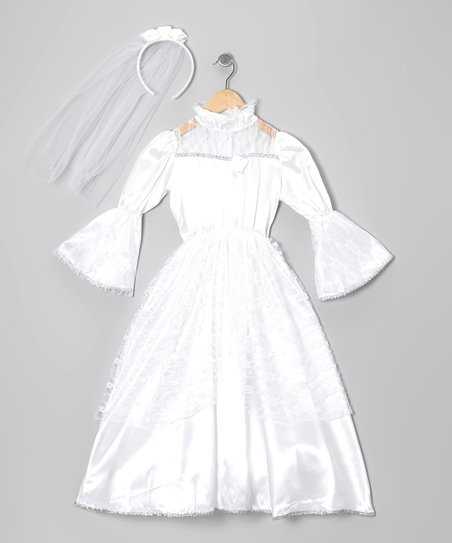 White Majestic Princess Dress-Up Set - Toddler & Kids