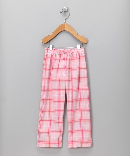 Creations Robo Pink Plaid Pants - Toddler & Girls