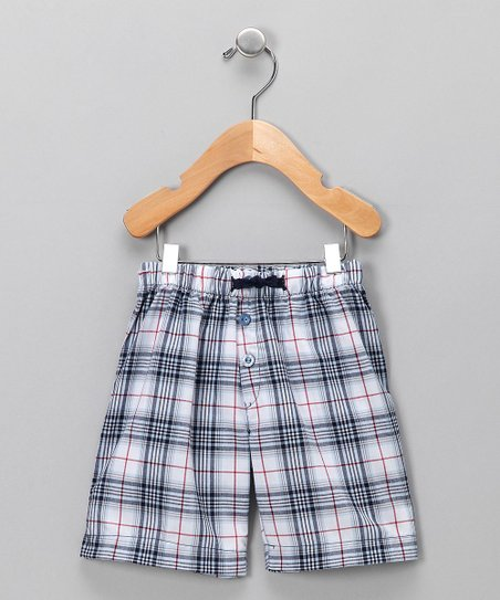 Creations Robo Navy Plaid Shorts - Toddler & Boys