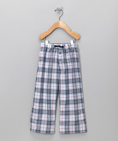 Creations Robo Navy Plaid Pants - Boys