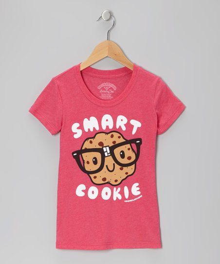 Hot Pink Heather 'Smart Cookie' Tee - Toddler & Girls