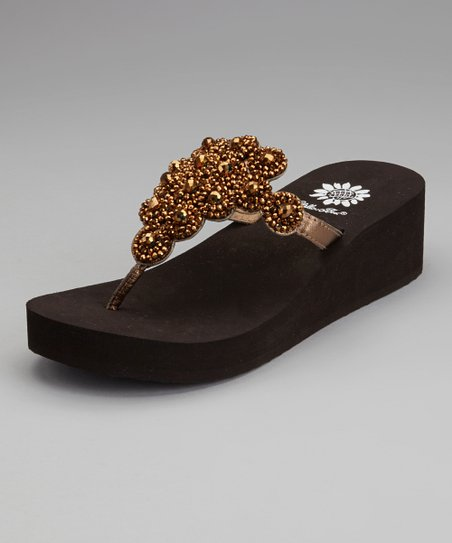 Bronze Almeda Wedge Sandal
