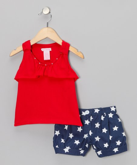 Red Tank & Star Shorts - Infant & Toddler