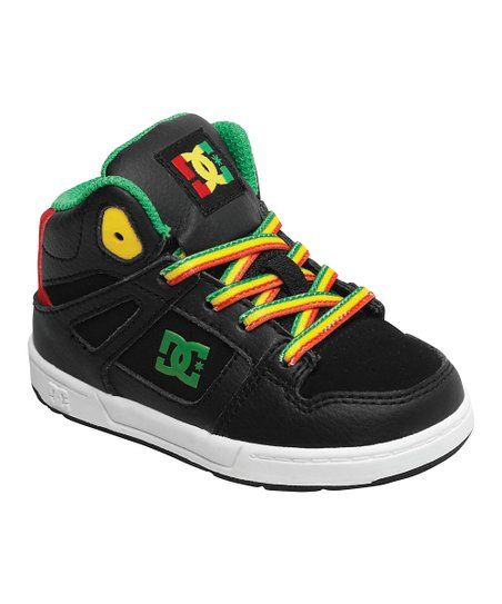Black &amp; Yellow Rebound Hi-Top Sneaker