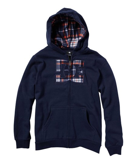 Dark Navy Upsider Fleece Zip-Up Hoodie - Toddler
