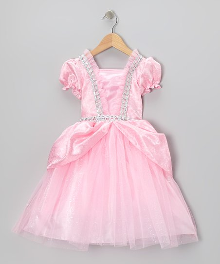 Pink & Silver Fairy-Tale Dress - Girls