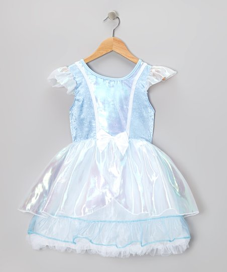 Blue & White Fairy-Tale Dress - Toddler & Girls