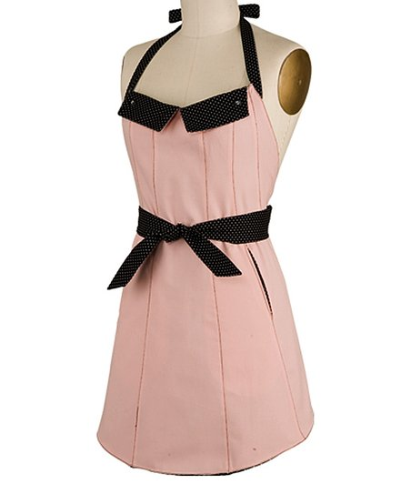 Pink Reversible Flap Apron - Women