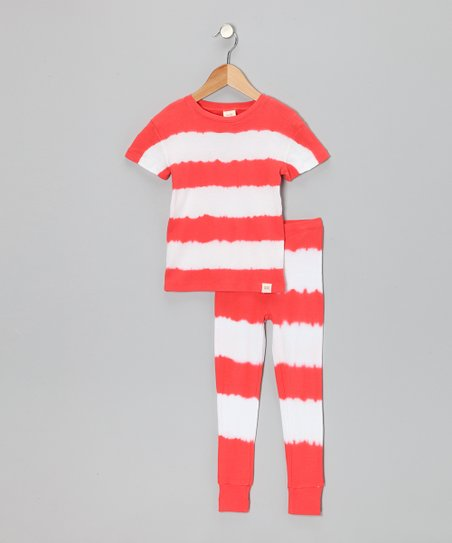 Red Stripe Pajama Set - Infant, Toddler & Kids