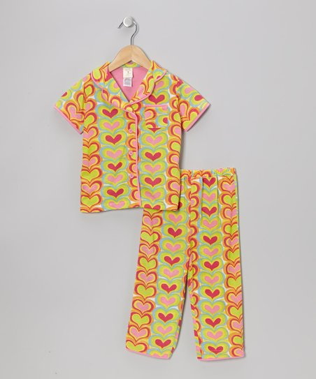 Rainbow Hearts Pajama Set - Infant, Toddler & Girls