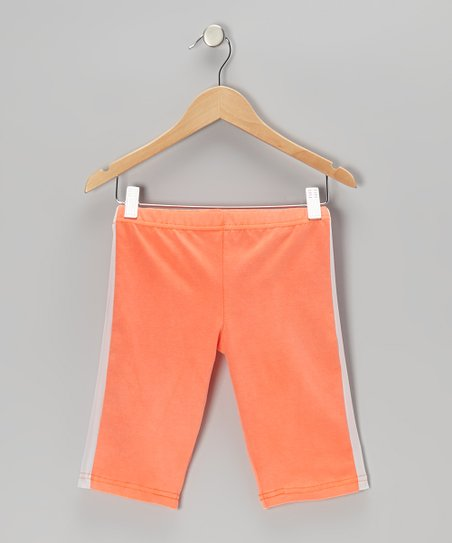Orange Stripe Bike Shorts