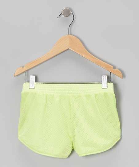 Neon Yellow Mesh Shorts