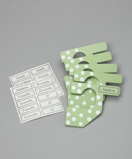 Light Green Polka Dot Closet Divider Set - Infant & Toddler