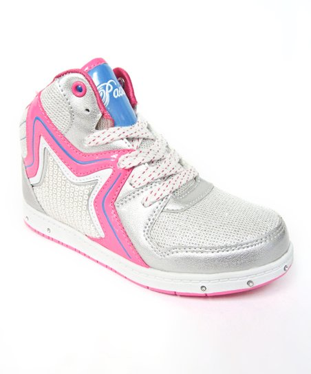 White & Pink Rockstar Hi-Top