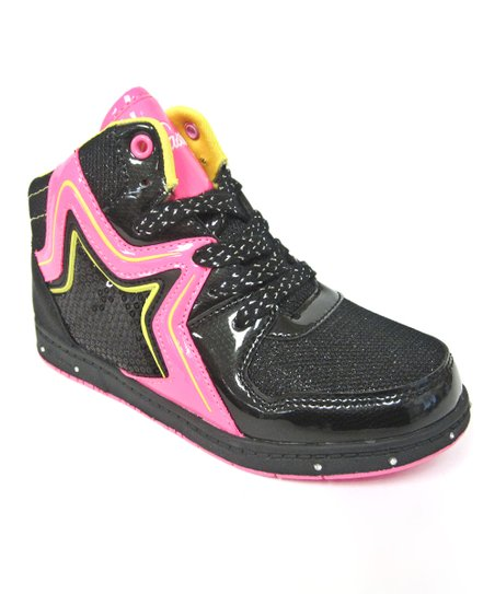 Black & Pink Rockstar Hi-Top