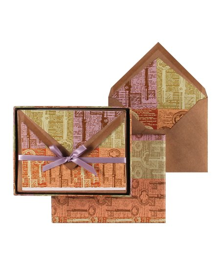 Archive Keys Short Fold Note Card Set