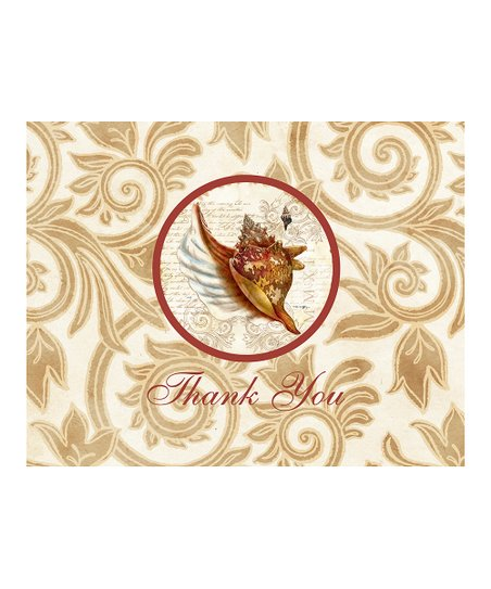 C.R. Gibson Nautilus Thank You Card Set