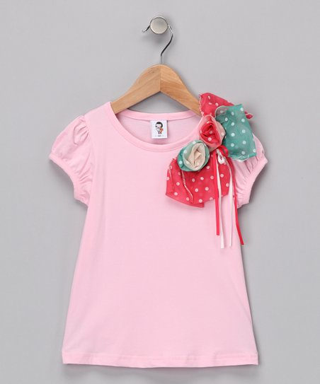 White Pink Chloe Tee - Toddler & Girls