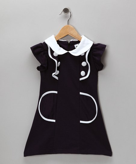 Navy Sailor Dress - Toddler &amp; Girls