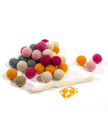 Raspberry Felt Ball Cascade Kit
