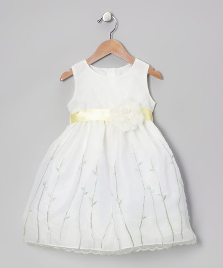 Yellow Organza Flower Dress - Infant, Toddler & Girls